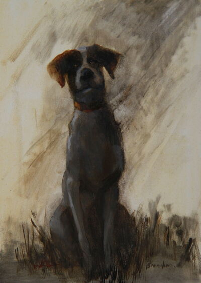 Linda Tracey Brandon, 'Puppy Left Out in the Rain', 2015