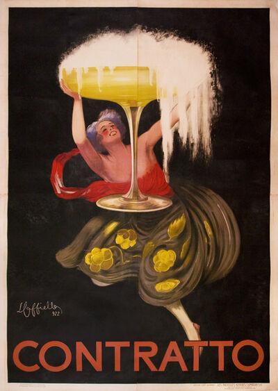Leonetto Cappiello, 'Contratto - Sparkling Wine - Extra Large Format', 1922