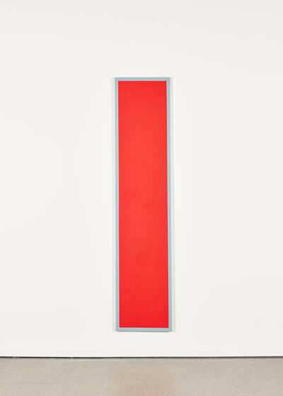 Ian Wallace, 'Untitled (Red Monochrome with Grey)', 1967