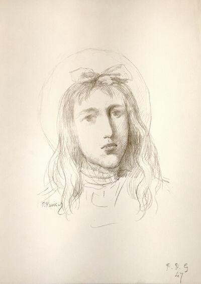 Pierre Puvis de Chavannes, 'Tete de Jeune Fille', 1896