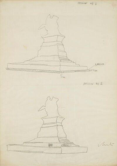 Christo and Jeanne-Claude, 'a) Disegno 1-2 b) Disegno 3-4'