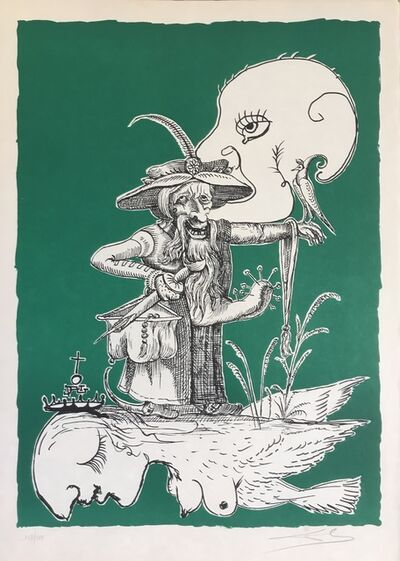 Salvador Dalí, 'Figure with big masturbator', 1973