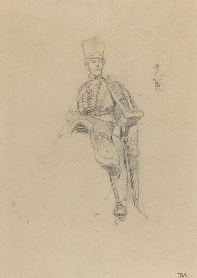 Jean-Louis-Ernest Meissonier, 'A French Hussar', ca. 1865