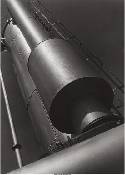 Clarence John Laughlin, 'Light on the Cylinders No. 5'