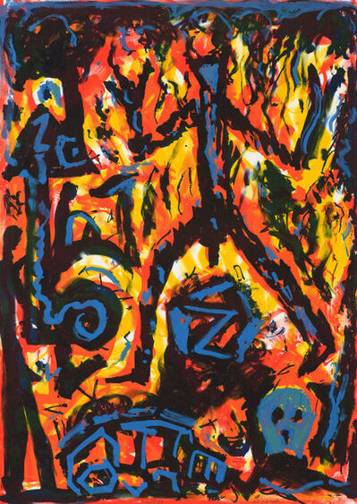 A.R. Penck, 'Flammen (Flames)', 2004