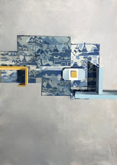 Jenny Brillhart, 'Canton Floor Plan With Yellow', 2021