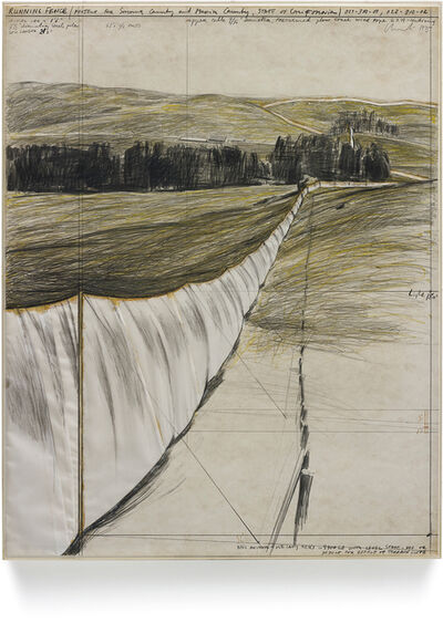 Christo and Jeanne-Claude, 'Running Fence', 1975