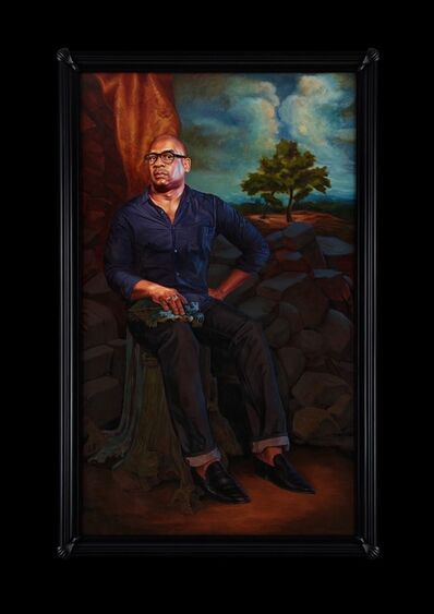 Kehinde Wiley, 'Portrait of Glenn Ligon, Hermes', 2017