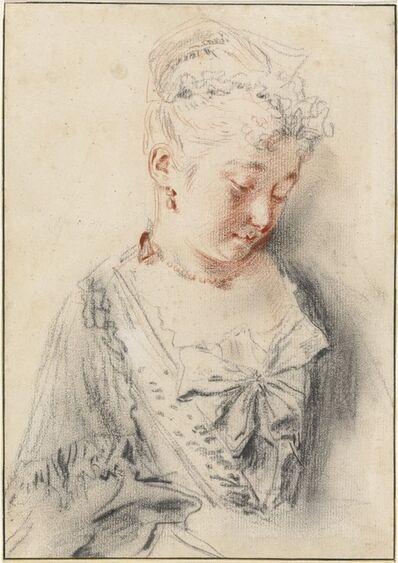 Jean-Antoine Watteau, 'Seated Woman Looking Down', ca. 1720/1721