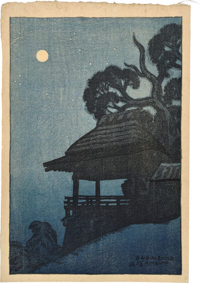 Itō Shinsui, 'Eight Views of Omi: Ishiyamadera Temple', 1917
