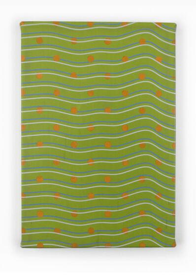 "Timothy Harding, '19"" x 13"" Orange Dots', 2018"