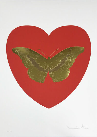 Damien Hirst, 'I Love You - Red/Oriental Gold/Cool Gold', 2015