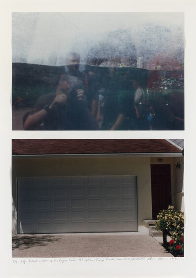 Dan Graham, 'Self-Portrait in Antwerp Zoo, Penguin Tank, 1998  Garage Facade, near Perth, Australia, 1992', 1998/1992
