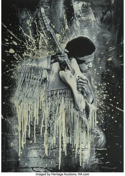 Mr. Brainwash, 'Jimi Hendrix (white)', 2015