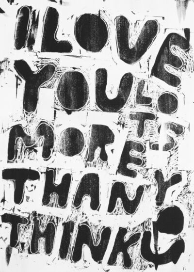 Stefan Marx, 'I Love You Lots More Than You Think (White)', 2019