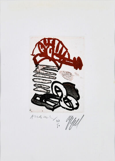 "Karel Appel, 'Page for ""Suite à deux""', 1978"