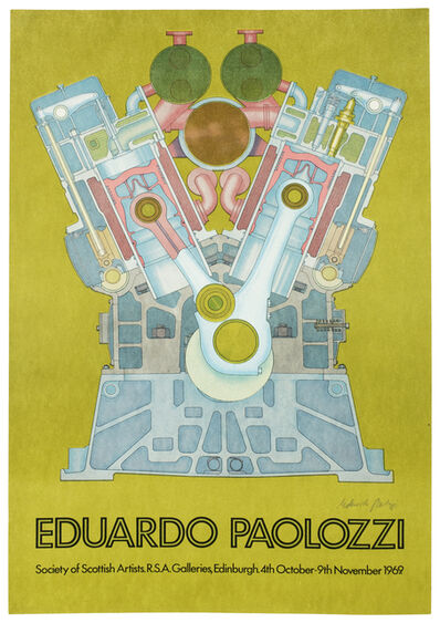 Eduardo Paolozzi, 'Society of Scottish Artists Exhibition 1969 SIGNED poster', ca. 1969
