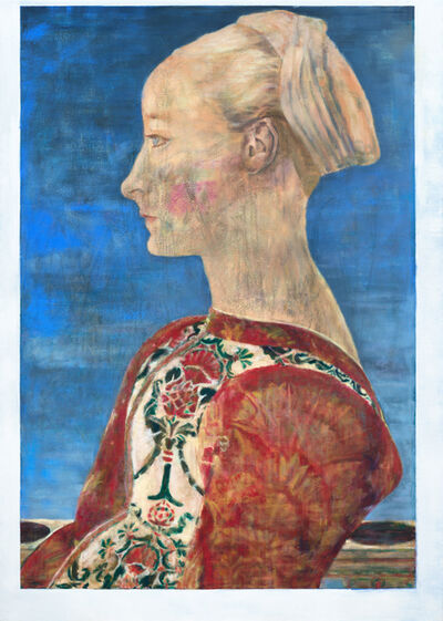 Jochen Plogsties, '28_14 (Profile of a Young Woman)', 2014