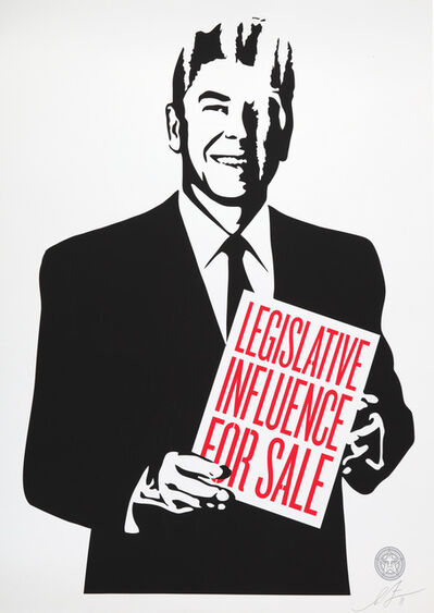 Shepard Fairey, 'Corporate Violence For Sale, Its Mourning In America, Top-Elite Factions For Sale & Legislative Influence For Sale', 2011