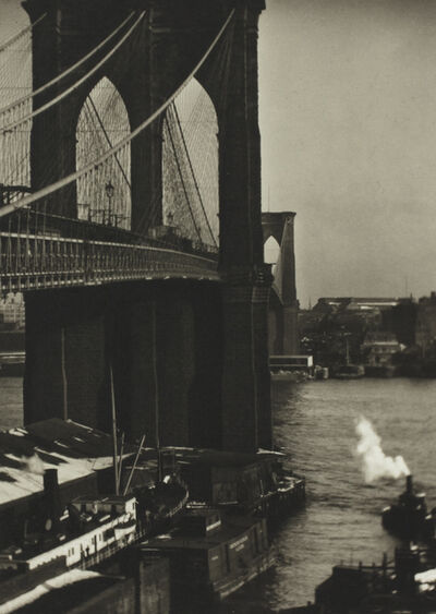 Alvin Langdon Coburn, 'Brooklyn Bridge from a Roof Top, New York', ca. 1905