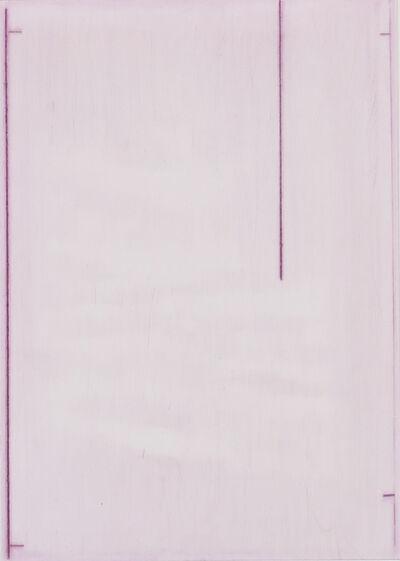 John Zurier, 'Summer Book pink drypoint', 2016