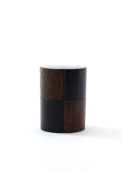 Jihei Murase, 'Ellipse rubbed lacquer tea caddy with checkered pattern', 2017