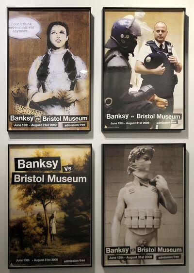 Banksy, 'Bristol Museum Poster Set (Dorothy, Klansman, Riot Copper, David)', 2009
