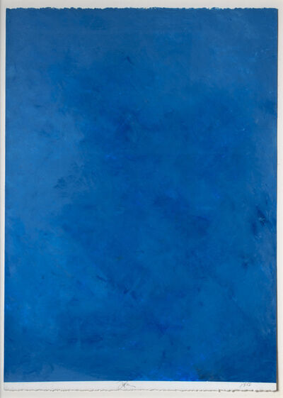 Joe Goode, 'Ocean Blue Drawing #36', 1988