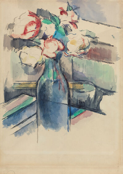 Paul Cézanne, 'Roses in a Bottle [recto]', 1900/1904