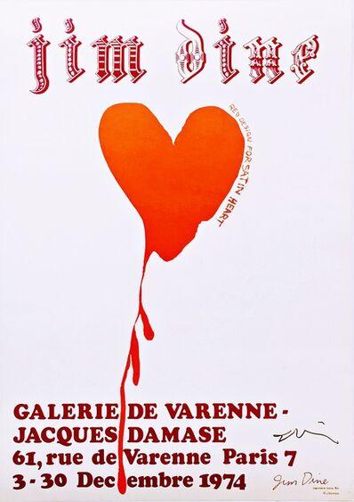 Jim Dine, 'Galerie De Varenne Exhibition Poster (Hand Signed)', 1974-2018