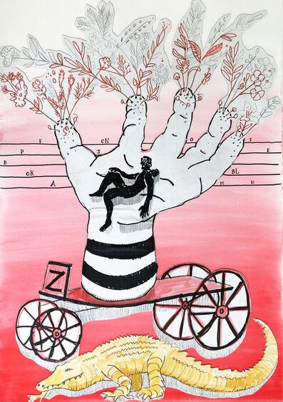 Chris Denovan, ' Hand Vase on Wheels', 2020