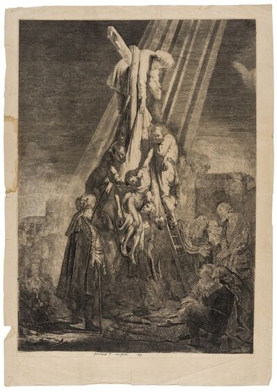Rembrandt van Rijn, 'The Descent from the Cross: Second Plate', circa 1633