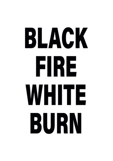 Emo de Medeiros, 'Black Fire White Burn', 2018