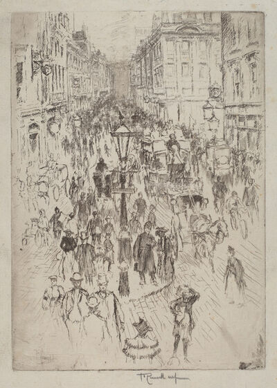 Joseph Pennell, 'New Oxford Street, London', 1893