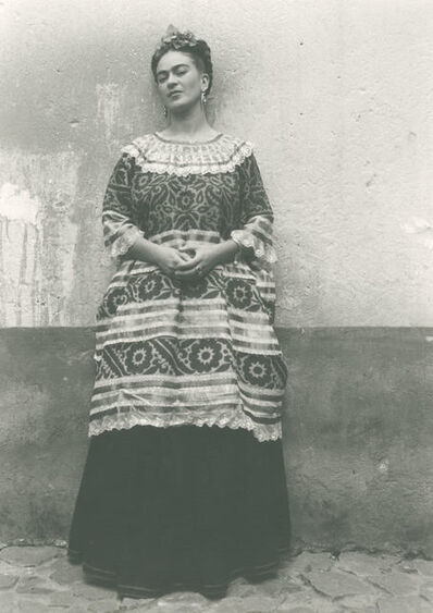 Leo Matiz, 'Untitled (Frida Kahlo standing against concrete wall)', ca. 1940