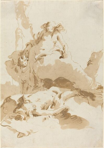 Giambattista Tiepolo, 'Venus and Cupid Discovering the Body of Adonis', ca. 1740