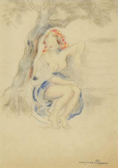 George Manzana-Pissarro, 'Woman Sitting under a Tree', Executed circa 1920
