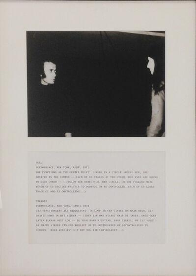 """Vito Acconci, '""""Pull, April 1971""""', 1971"""