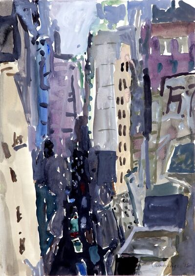 Elisabeth Cummings, 'From Michael' Top Terrace last light', 2015