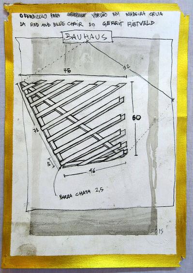 Daniel Murgel, 'Projeto para ofendículo Bauhaus para versão em madeira crua da Red and Blue chair do Gerrit Rietveld 2015 [Project to Barrier Bauhaus to unpainted wood Red and Blue Chair by Gerrit Rietveld]', 2015