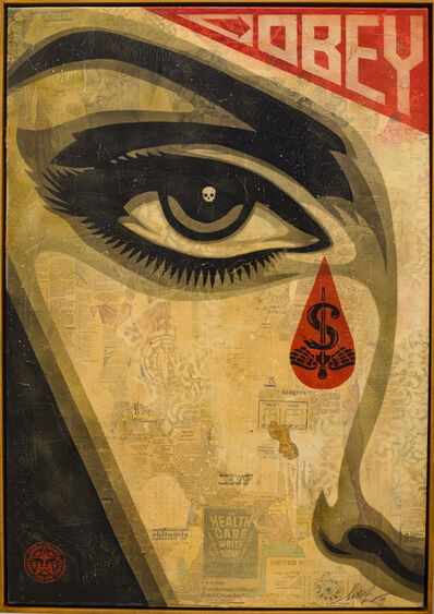 Shepard Fairey, 'EYE ALERT (Cream) ', 2010