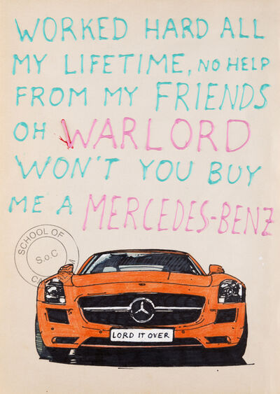 Riiko Sakkinen, 'Oh Warlord Won't You Buy Me a Mercedes-Benz', 2018