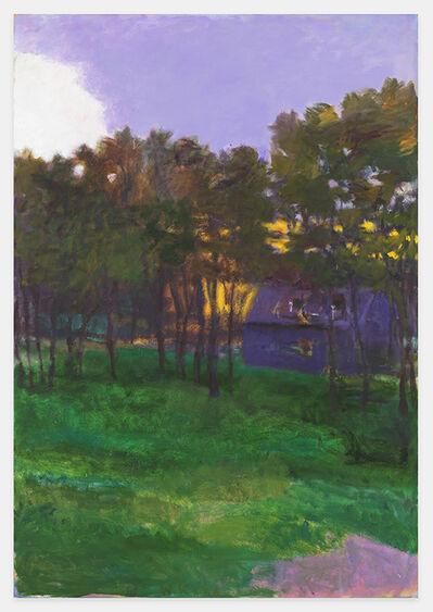 Wolf Kahn, 'Barn Hidden Among Trees', 1998