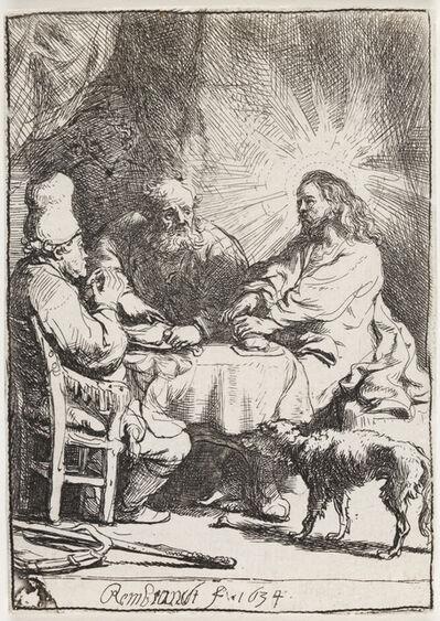 Rembrandt van Rijn, 'Christ at Emmaus:  The Smaller Plate', 1634