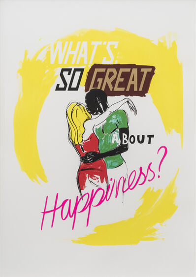 Charles Avery, 'Untitled (What's so great about Happiness?)', 2014