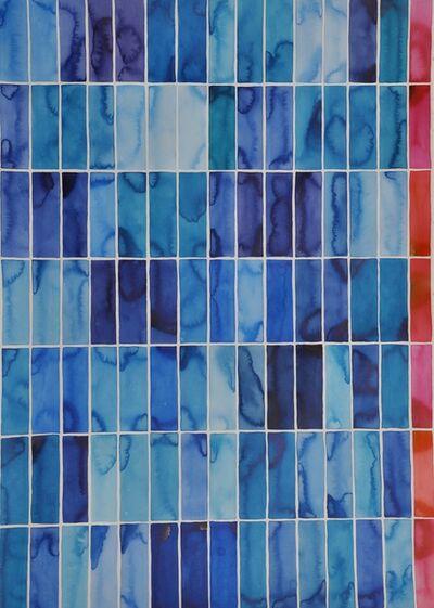 Idoline Duke, 'Big Blue Grid II', 2017