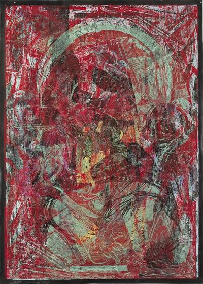 Jim Dine, 'Raspberry Jam all over my Head', 2017