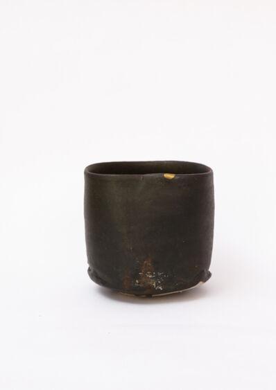 Shiro Tsujimura, 'Tea bowl, Hikidashiguro style with Kintsugi', 2010-2015