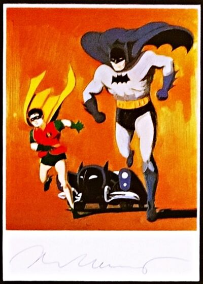 Mel Ramos, 'Batman, Robin and Bat Mobile, Hand signed (from the Estate of UACC President Cordelia Platt)', ca. 1991