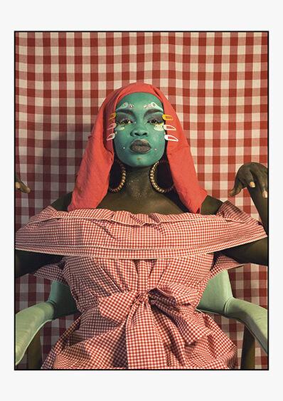 Atong Atem, 'Self Portrait in Gingham no.2 ', ca. 2018